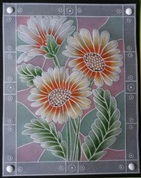 Easy Emboss Daisies template