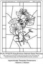 TP3227E-Stained Glass Petunias