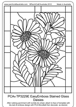 TP3229E EasyEmboss_stained_glass_daisies